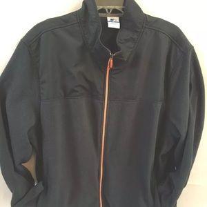 Starter XXL Gray Windbreak Fleece Jacket Full Zip